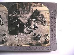 stereoview persian rug artists retouching old carpet keystone v24107 1440884437