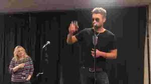 Eric Church Toasts After Receiving Riaa Plaque