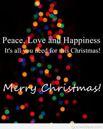 Quotes About Peace And Love Beauteous Love Happiness Merry Christmas Peace Quote