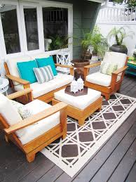 eclectic outdoor furniture. Designer Outdoor Furniture Deck Eclectic With Container Plants Decorative. Image By: COCOCOZY L