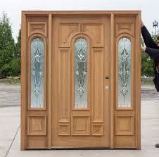 Exterior Door with Arched Glass and 14