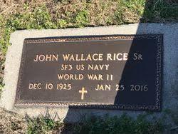 John Wallace Rice Sr. (1925-2016) - Find A Grave Memorial