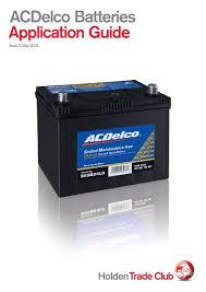 Acdelco Batteries Application Guide Acdelco Australia