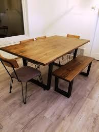 Buy A Custom Modern Industrial Minimalist Style Dining Table