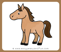 horses drawings easy. Plain Horses Color The Horse Drawing With Horses Drawings Easy W