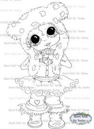 Small Picture INSTANT DOWNLOAD Digital Digi Stamps Big Eyed Besties Big Head