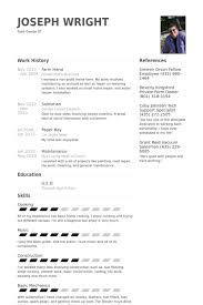 Farm Hand Resume samples