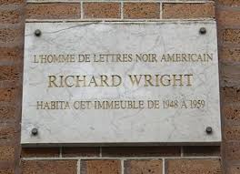 richard wright author  plaque commemorating wright s residence in paris at 14 rue monsieur le prince