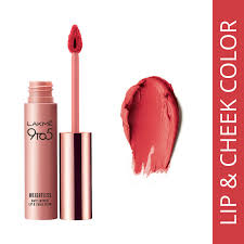 lakme 9 to 5 weightless matte mousse lip cheek color pink plush