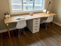 Counter Top Desks Finished Our 98 Karlby Counter Top Desk Pretty Happy With The