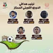 ترتيب هدافي الدوري الكويتي الممتاز - التيار الاخضر