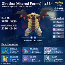 Altered Giratina Legendary Raid Hour September 25 At 6 Pm