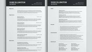 2 Page Resume Sample Magnificent Two Page Resume Template Cv Single Word Wearesoulco