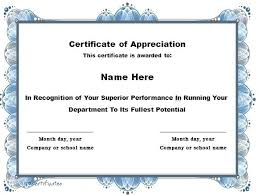 Student Of The Month Certificate Templates Printable Certificate Of Recognition Free Certificates