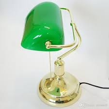 enchanting green table lamp vintage bank table lamps retro brass bankers lamp green glass
