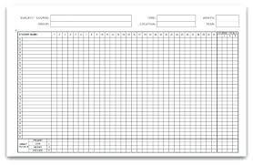 Attendance Roll Printable Editable Dance Stuff School Register Excel