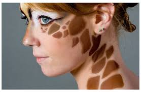 giraffe make up i might just do this for this year color me make up giraffes