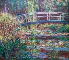 claude monet water lily pond symphony in rose oil painting reion