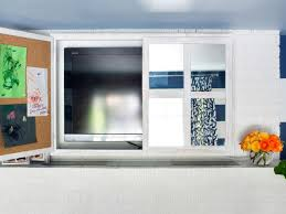 hide flat screen tv new turn a kitchen cabinet into tv cover with regard to 12