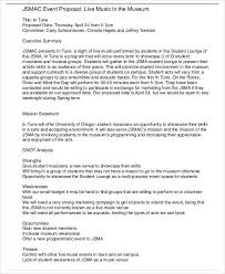 Sample Letter For Event Proposal Event Proposal Letter For 18th Birthday Linkv Net