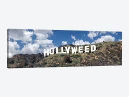 Hollywood sign at hollywood hills, los angeles, california, usa. Hollywood Sign Changed To Hollyweed Los Angeles California Icanvas
