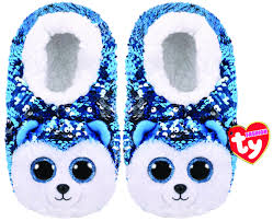 Beanie Boo Slippers Size Chart Slush The Dog Sequin Slippers Small