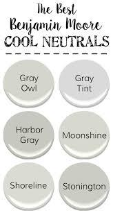 cool gray paint colorsThe Best Neutral Paint Colors  Blesser House