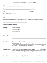 Template Lease 4 Letter Of Intent To Lease Templates Word Excel Templates