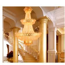 european style living room large chandelier villa crystal chandelier p