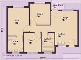 awesome 3 bedroom house plans pdf free tile design gallery