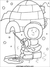 Kleurplaat Eskimo Nakış Coloring Home