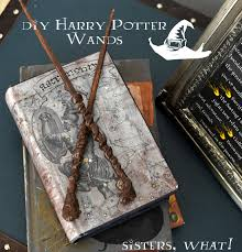 harry potter wands made out chopsticks and a glue