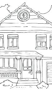 House Coloring Pages To Print Haunted House Pictures To Color