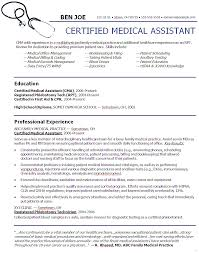 Medical Assistant Resume Objective Graceful Objectives Sample