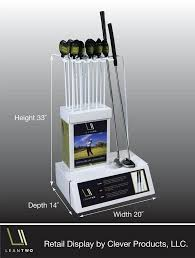 Golf Club Display Stand LeanTwo Golf Club Stand Retail Display 31
