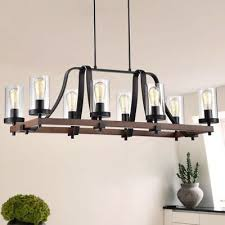 modern farmhouse chandelier rectangular hanging lamp rustic island light fixture