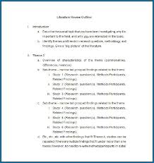 Literature Review Example Apa Apa Literature Review Outline Template 295