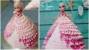 Bánh Sinh Nhật Búp Bê Elsa Đẹp Và Đơn Giản - Decorate Elsa Doll Cake -  YouTube