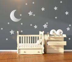 moon and stars nursery wall art