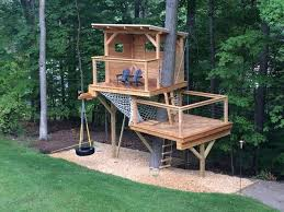 Decorations  Simple Small Bridge For Kids Treehouse Designs With Kids Treehouse Design