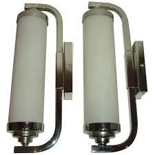 superb matching pair of 1930s art deco modernist wall lights