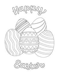10 Easter Coloring Pages For Kids Easter Crafts For Children
