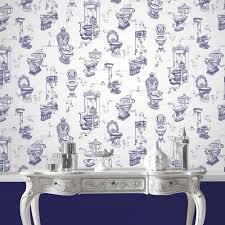 bathroom wallpaper. Graham \u0026 Brown - Loo Blue Bathroom Wallpaper 50-635 | 17 Stylish