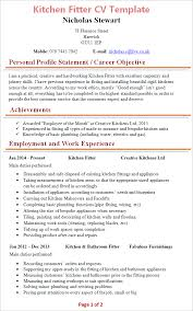 Kitchen Fitter Cv Template Tips And Download Cv Plaza