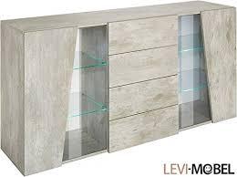 Generic Sideboard Wohnzimmer WOHNWAND Schrank Beton Optik Matt Neu 794848