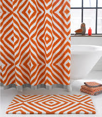 orange bathroom mats