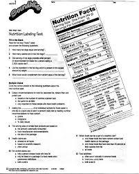 Reading Nutrition Labels Worksheet Worksheets for all | Download ...
