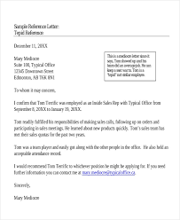 Sample Personal Reference Letter For A Friend Worthy Imagine Ideas