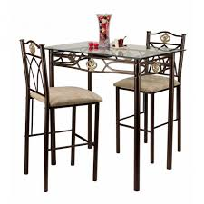 Tall Square Kitchen Table Set Furniture Enjoy Your Dining Time With Bistro Table And Chairs