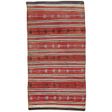 antique navajo carpet oriental rug handmade wool rug red color for